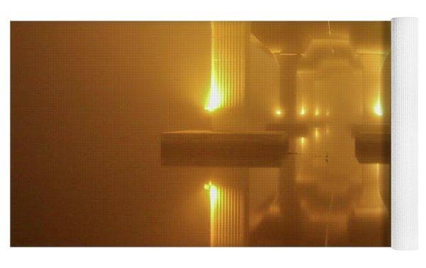 Foggy Bridge Yoga Mat by Tom Claud