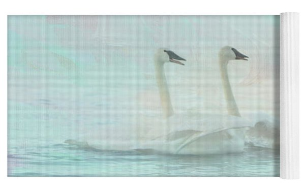 Four Swans Watercolor Group Yoga Mat by Patti Deters