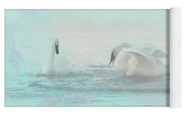 Four Swans Watercolor Group Play Yoga Mat by Patti Deters