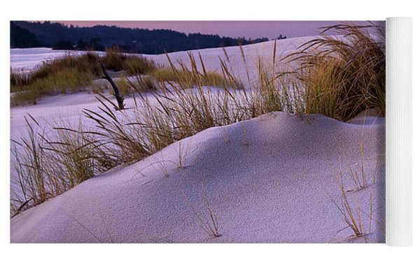 Grass And Frost At Dawn Yoga Mat by Robert Potts