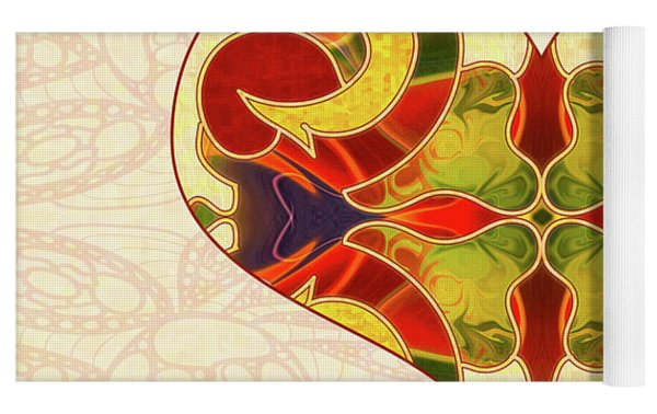 Heart Illustration - Creating Passionate Experience - Omaste Witkowski Yoga Mat by Omaste Witkowski