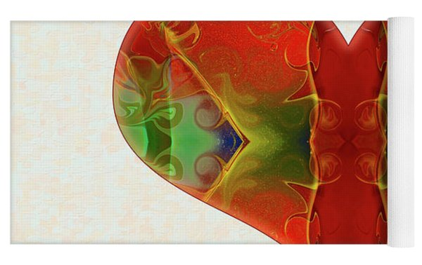 Heart Painting - Vibrant Dreams - Omaste Witkowski Yoga Mat by Omaste Witkowski
