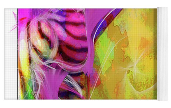 Iris Psychedelic  Yoga Mat by Cindy Greenstein