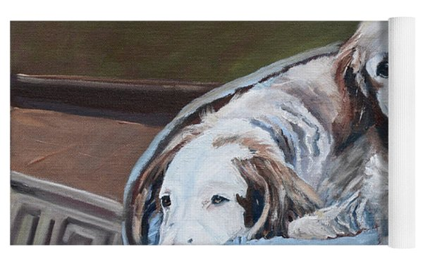 Irish Red And White Setters - Archer Dogs Yoga Mat by Jan Dappen