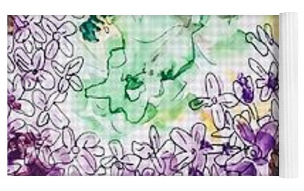 Lilac Dreams Yoga Mat by Monique Faella