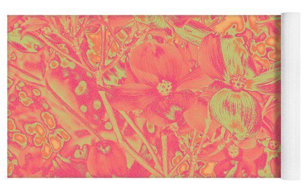 Magnolia Abstract Yoga Mat by Mae Wertz