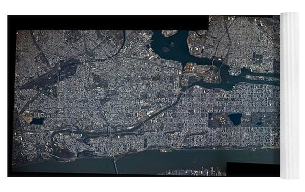 Manhattan - 2012 From Space Yoga Mat by Celestial Images
