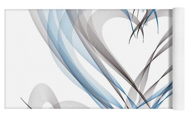 Many Hearts Yoga Mat by Marian Palucci-Lonzetta