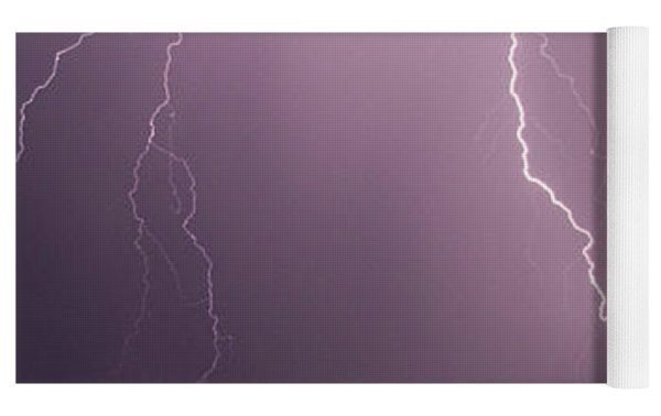 Mid July Nebraska Lightning 019 Yoga Mat by Dale Kaminski