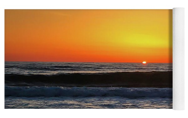 Mike's First Sunrise Yoga Mat by Mike Hudson