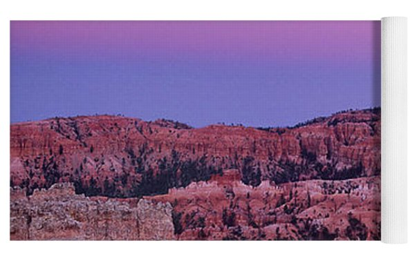 Moonrise Over The Hoodoos Bryce Canyon National Park Utah Yoga Mat by Dave Welling