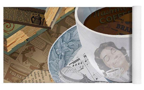 Morning Coffee Yoga Mat by Clint Hansen