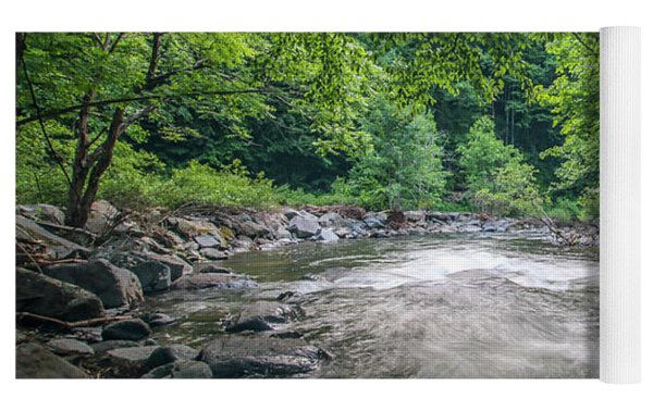 Mountain Stream In Summer #1 Yoga Mat by Tom Claud