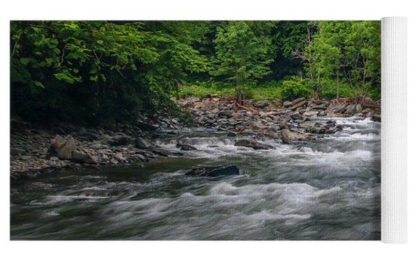 Mountain Stream In Summer #2 Yoga Mat by Tom Claud