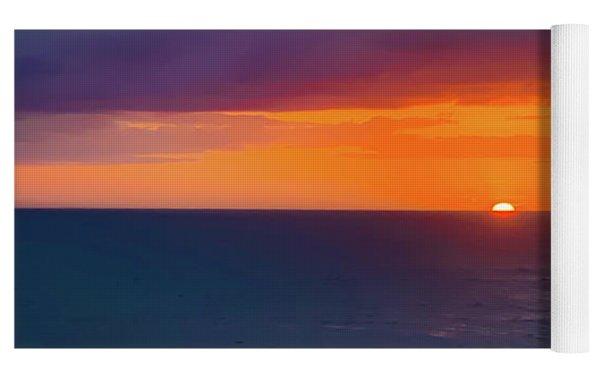 Obx Sunrise On The Last Day Yoga Mat by Lora J Wilson