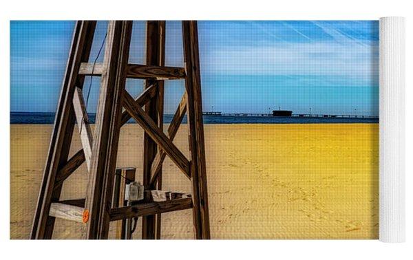 Ocean City Beach Yoga Mat by Paul Wear