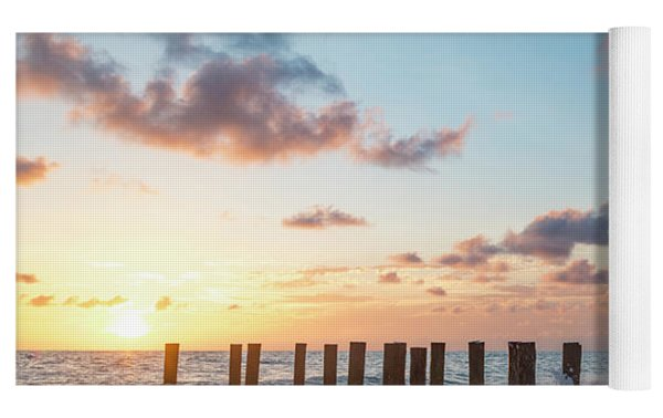 Old Pier Pilings II Yoga Mat by Brian Jannsen