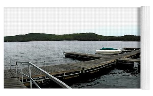 Panorama Of Schroon Lake In The Adirondack Mountains In New York Yoga Mat by Rose Santuci-Sofranko