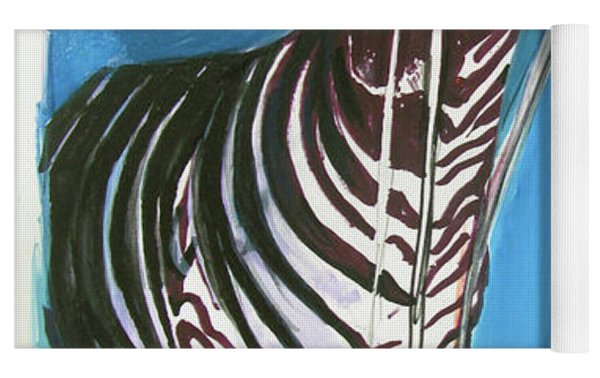 Party Of One Zebra Boy Yoga Mat by Rene Capone