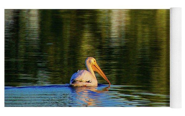 Pelican In Sunlight Yoga Mat by John De Bord