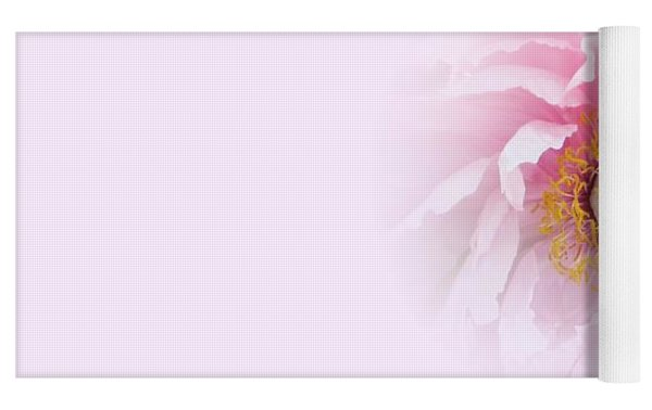 Pink Breath Yoga Mat by Cindy Greenstein