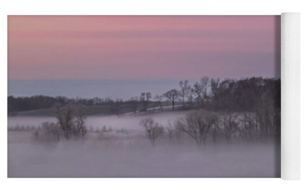 Pink Misty Morning #1 - Winter Fog Yoga Mat by Patti Deters