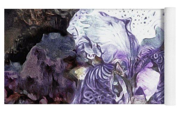 Purple Bearded Iris Yoga Mat by Susan Maxwell Schmidt