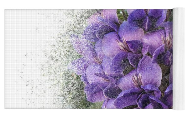 Purple Texas Mountain Laurel Flower Cluster Yoga Mat by Patti Deters