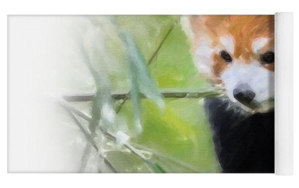 Red Panda Yoga Mat by Chris Armytage