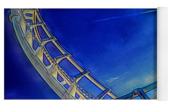 Roller Coaster Ocean City Md Yoga Mat by Paul Wear