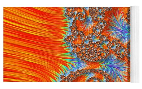 Saint Georges Vanquished Dragon Fractal Abstract Yoga Mat by Rose Santuci-Sofranko