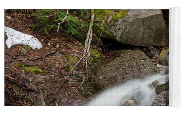 Seasonal Waterfall - Franconia Notch, New Hampshire Yoga Mat by Erin Paul Donovan