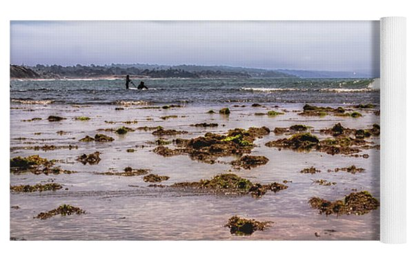 Seaweed At Low Tide Yoga Mat by Alison Frank