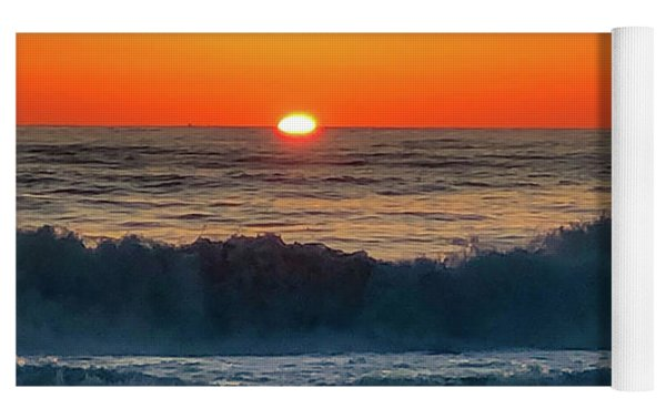 Sunrise First Day Yoga Mat by Mike Hudson
