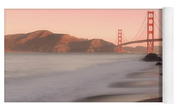 Sunrise In San Fransisco- Yoga Mat by JD Mims