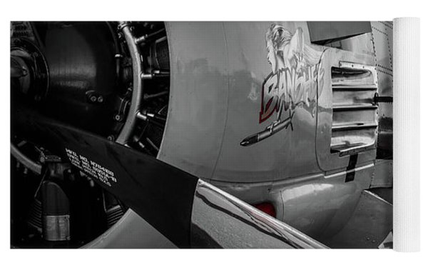T-28b Trojan In Selective Color Yoga Mat by Doug Camara