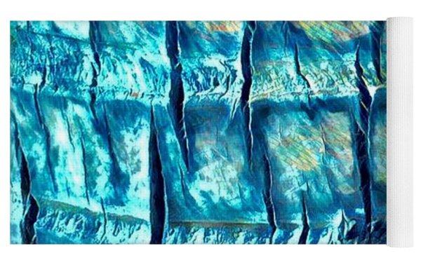 Teal Palm Bark Yoga Mat by Cindy Greenstein