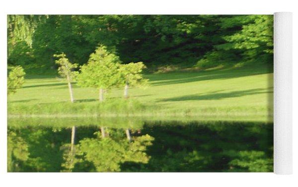 Trees Reflections Yoga Mat by Rockin Docks