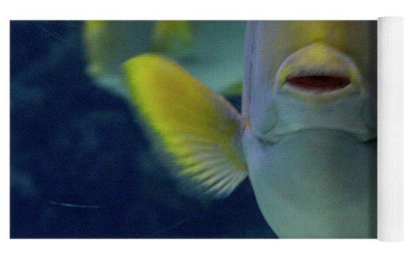 Tropical Fish Poses. Yoga Mat by Anjo Ten Kate