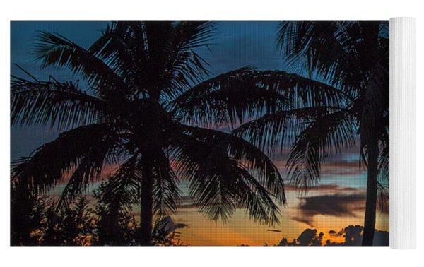 Twin Palms Sunrise Yoga Mat by Tom Claud