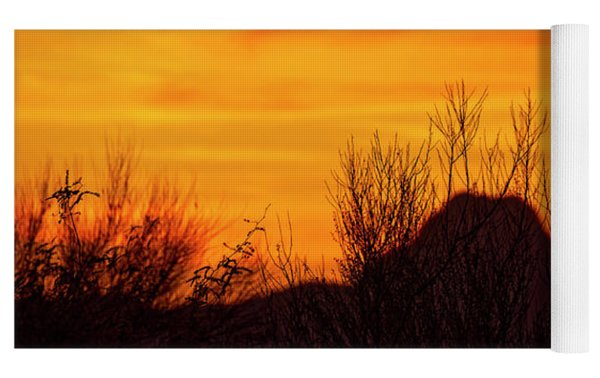 Twin Peaks Silhouette H1840 Yoga Mat by Mark Myhaver