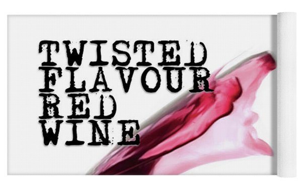 Twisted Flavour Red Wine Yoga Mat by ISAW Company