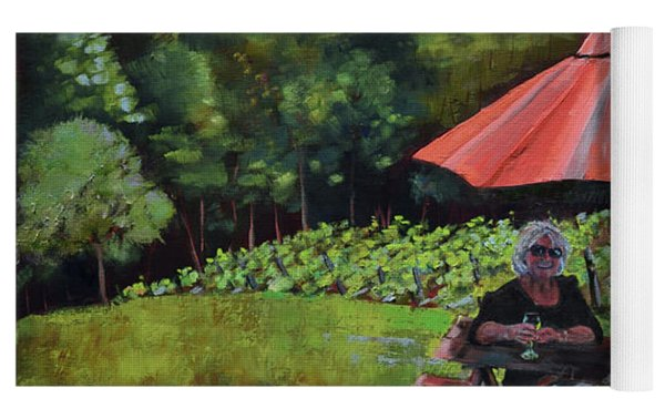 Two Friends At Ott Farm And Vineyards Yoga Mat by Jan Dappen