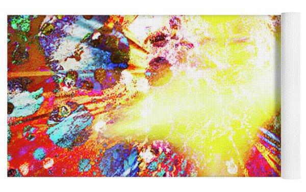 We Are All Energy Yoga Mat by Atousa Raissyan