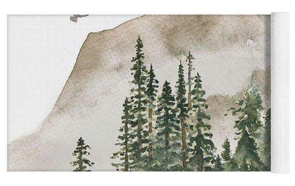 Wild Alaska Travel Poster Yoga Mat by Celestial Images