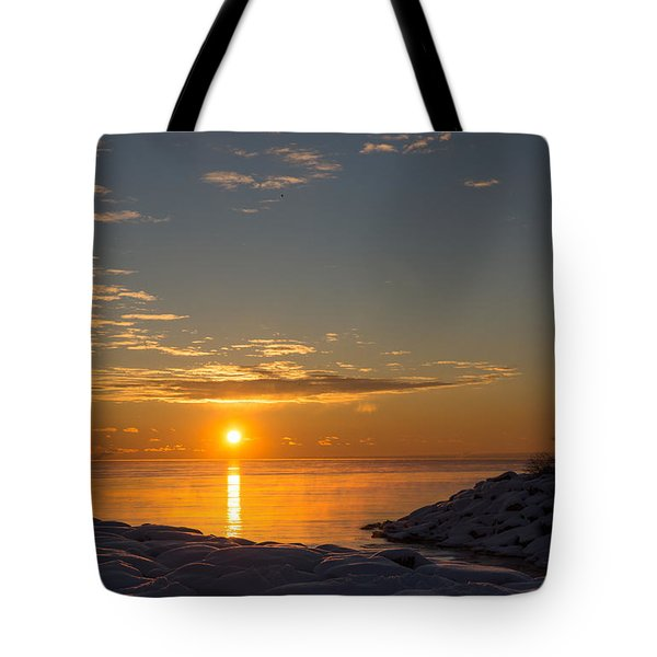Tote Bag featuring the photograph -15 Degrees Sunrise by Georgia Mizuleva