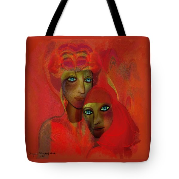 260 - Women In Red ... Tote Bag by Irmgard Schoendorf Welch