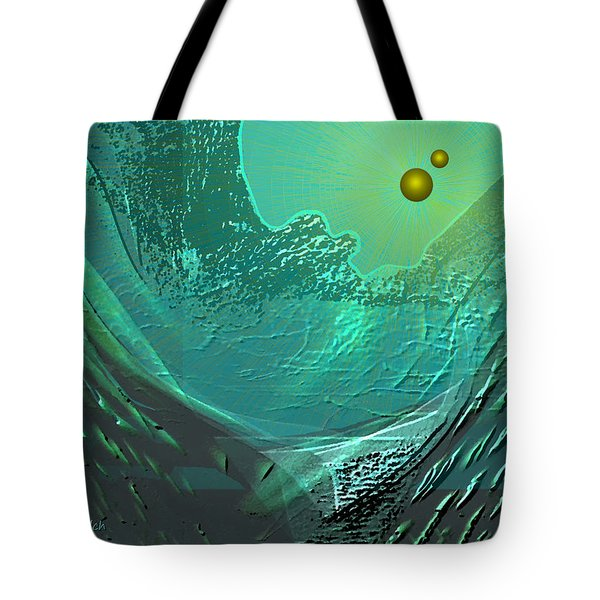 577 -  Ocean World Crystal Green.. Tote Bag by Irmgard Schoendorf Welch