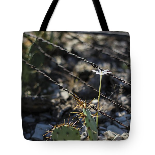 A Flower Among Thorns Tote Bag