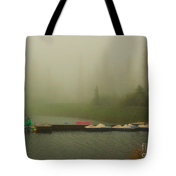 A Misty Day Tote Bag by Steven Reed